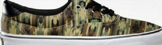 style green girl vans sneakers camuflage classic