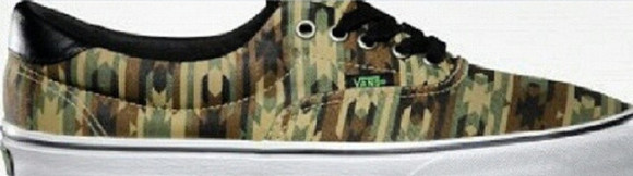 sneakers vans camuflage green classic girl style