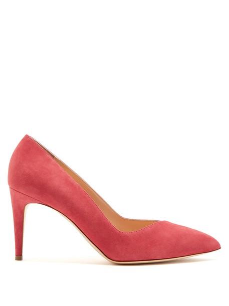 suede pumps pumps suede pink shoes