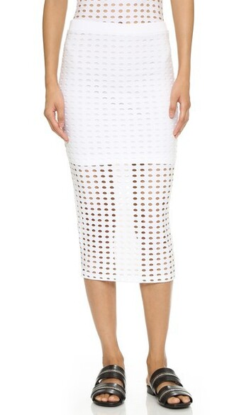 skirt pencil skirt knit white