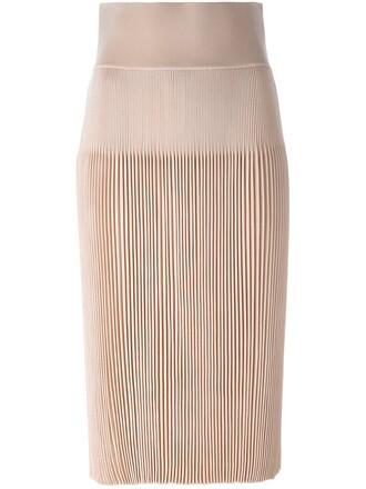 skirt pleated nude