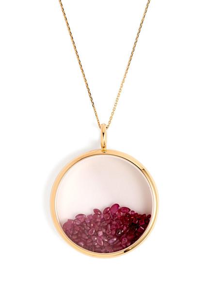 AURÉLIE BIDERMANN FINE JEWELLERY Chivor ruby & 18kt gold necklace in red