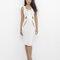 Susanna cutout midi dress in white at flyjane
