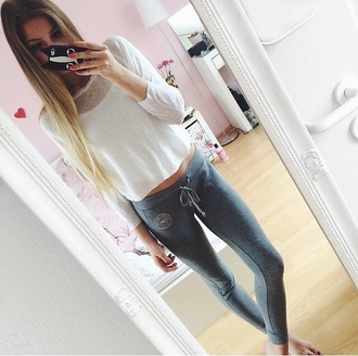 pants joggers outfit tumblr outfit comfy grey sweatpants sweatpants