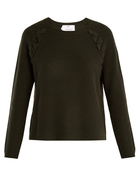 Allude sweater wool dark green