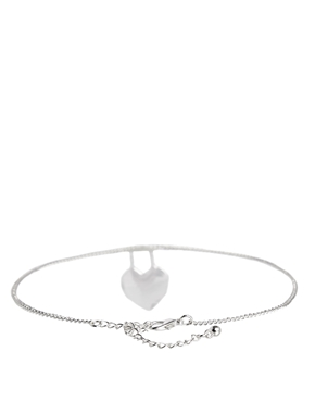 ASOS | ASOS Heart Fine Chain Choker Necklace at ASOS