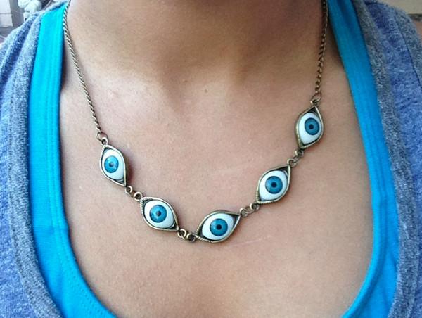 jewels evil eye evil eye necklace necklace bronze necklace