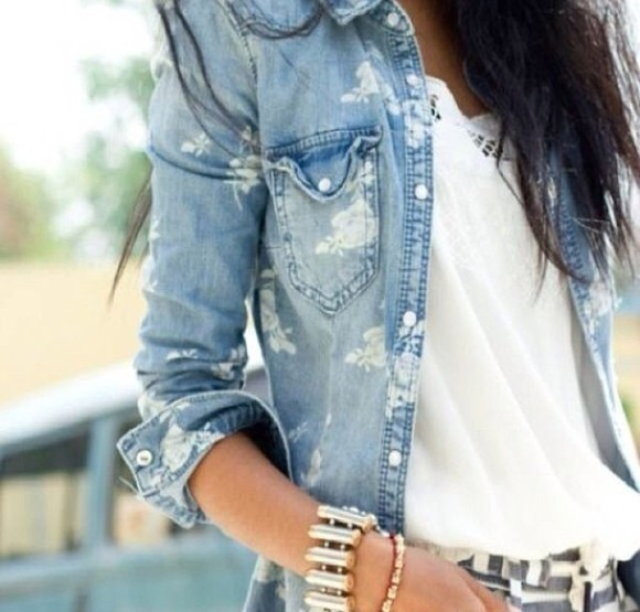 perfecto jacket flowers denim jeans jacket i love