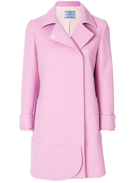 Prada coat women wool purple pink