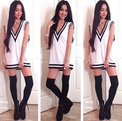 dress,sweater,shirt,t-shirt,short,short dress,white t-shirt,black and white,sexy dress,summer dress,summer outfits,winter dress,winter outfits,bodycon dress,denim,casual,party,party dress,party outfits,socks,jewels,boots,lace up,heels,high heels,shoes,style,classy,hot,sweatshirt,t-shirt dress,band t-shirt,sportswear,basketball t-shirt,fall outfits,knee high socks,high socks,tights,streetwear,streetstyle,winter boots,platform shoes,platform lace up boots,blouse