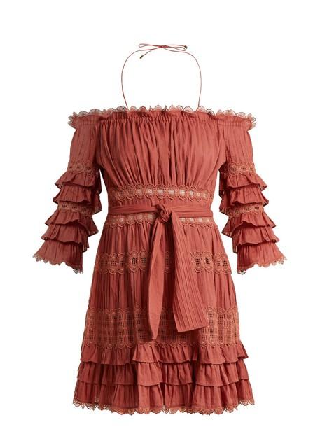 Zimmermann dress cotton pink