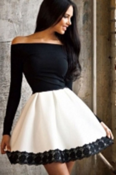 Black And White Party Dresses - RP Dress