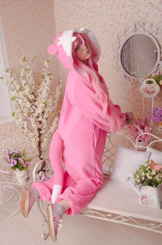 pajamas slowpoke kigurumi onesies costumes