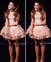 dress,ariana grande,prom dress,homecoming dress,stage dress,girly,short dreas