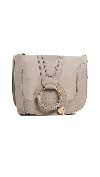 See by Chloe Hana Small Saddle Bag in grey