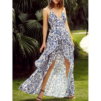 dress rose wholesale boho maxi dress fashion streetwear beach summer dress casual blue style summer spring