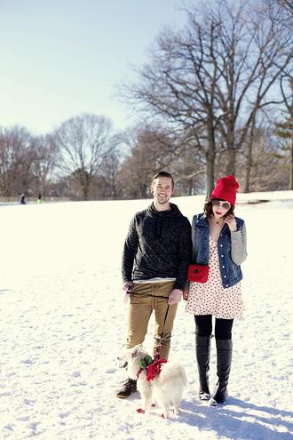 keiko lynn blogger jacket sweater boyfriend white dress dress sunglasses bag shoes hat pants