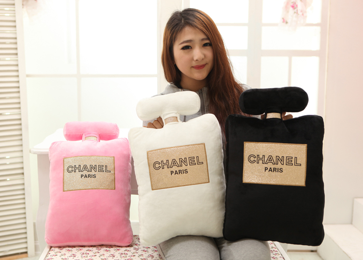 Free shipping Chanel Dior perfume bottle shape pillow cushions plush toy gift to send the same brand of perfume 5ml - SGshop