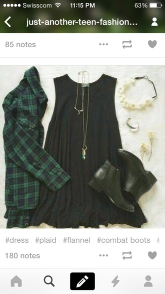 top green flannel plaid
