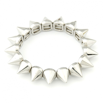 Silver Color Spike Bracelet