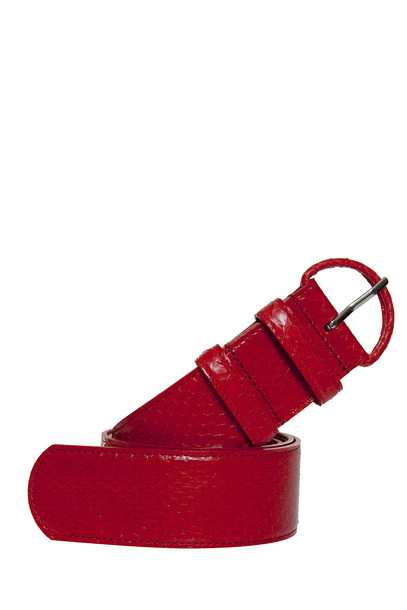 oscar de la renta snake belt red