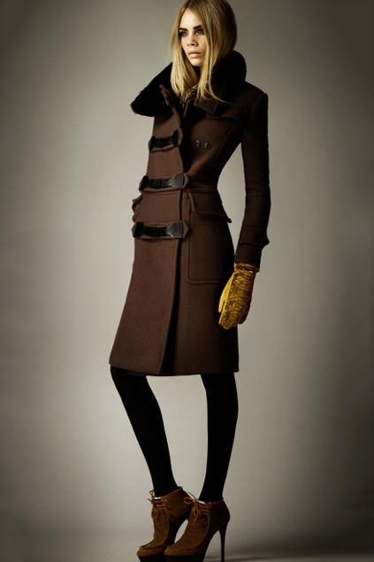Longline Worsted Coat with Fur Collar - OASAP.com