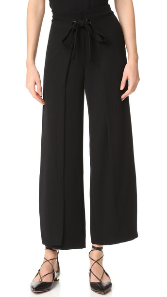 Yigal Azrouel Wide Leg Wrap Pants - Jet