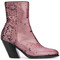 A.f.vandevorst - sequined ankle boots - women - leather/polyester - 41, pink/purple, leather/polyester