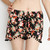 Black and Red Tropical Floral Pom Pom Shorts