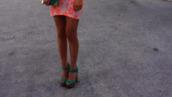 shoes,heels,high heels,thick heel,green,wooden heel,wooden platforms,wooden heels