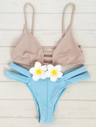 swimwear trendy bikini summer beach hot blue pink zaful