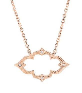 rose gold rose moon diamonds necklace gold necklace gold jewels