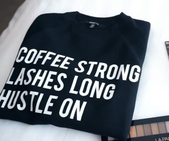 shirt coffee mascara lashes coffee graphic tee t-shirt