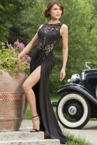 dress black wots-hot-right-now maxi dress embroidered bow waist dress evening dress formal dress elegant gown prom dress