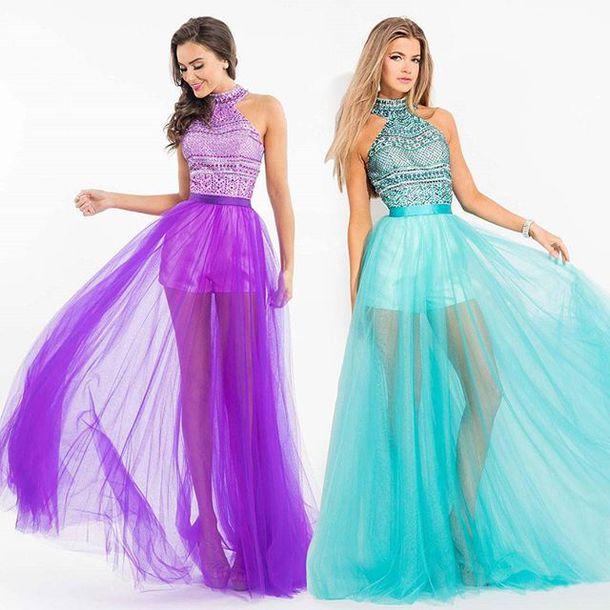dress rachel allan pink dress halter dress romper prom dress sweet sixteen  homecoming
