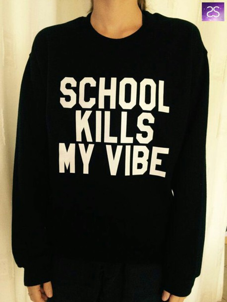 sweater back to school killsmyvibe vibes funny