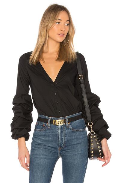 L'Academie blouse black top
