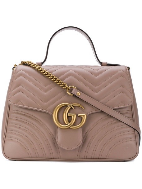 gucci women bag leather brown