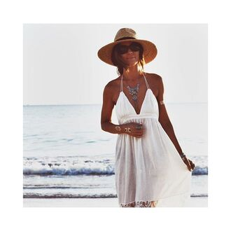 dress free vibrationz white dress white long dress backless dress white backless dress white halter dress white high low dress beach dress summer dress spring dress high low dress long white backless dress white summer beach boho boho dress