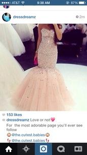 dress,prom dress,mermaid prom dress,mermaid dresses,champagne nude colour