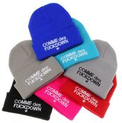 hat,blue,red,grey,black,pink,beanie,fashion,style,warm,cozy,cute,streetwear,cool,trendy,winter outfits,comme des fuckdown,it girl shop,grey beanie