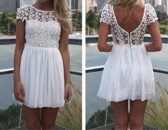 dress white floral crochet lace white dress summer fashion low back floaty flowers cardigan lace dress backless backless dress