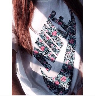 sweater nike white print