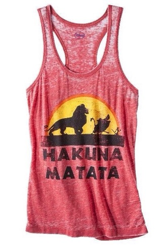 tank top timon and pumba disney hakuna matata lion king quote on it cartoon