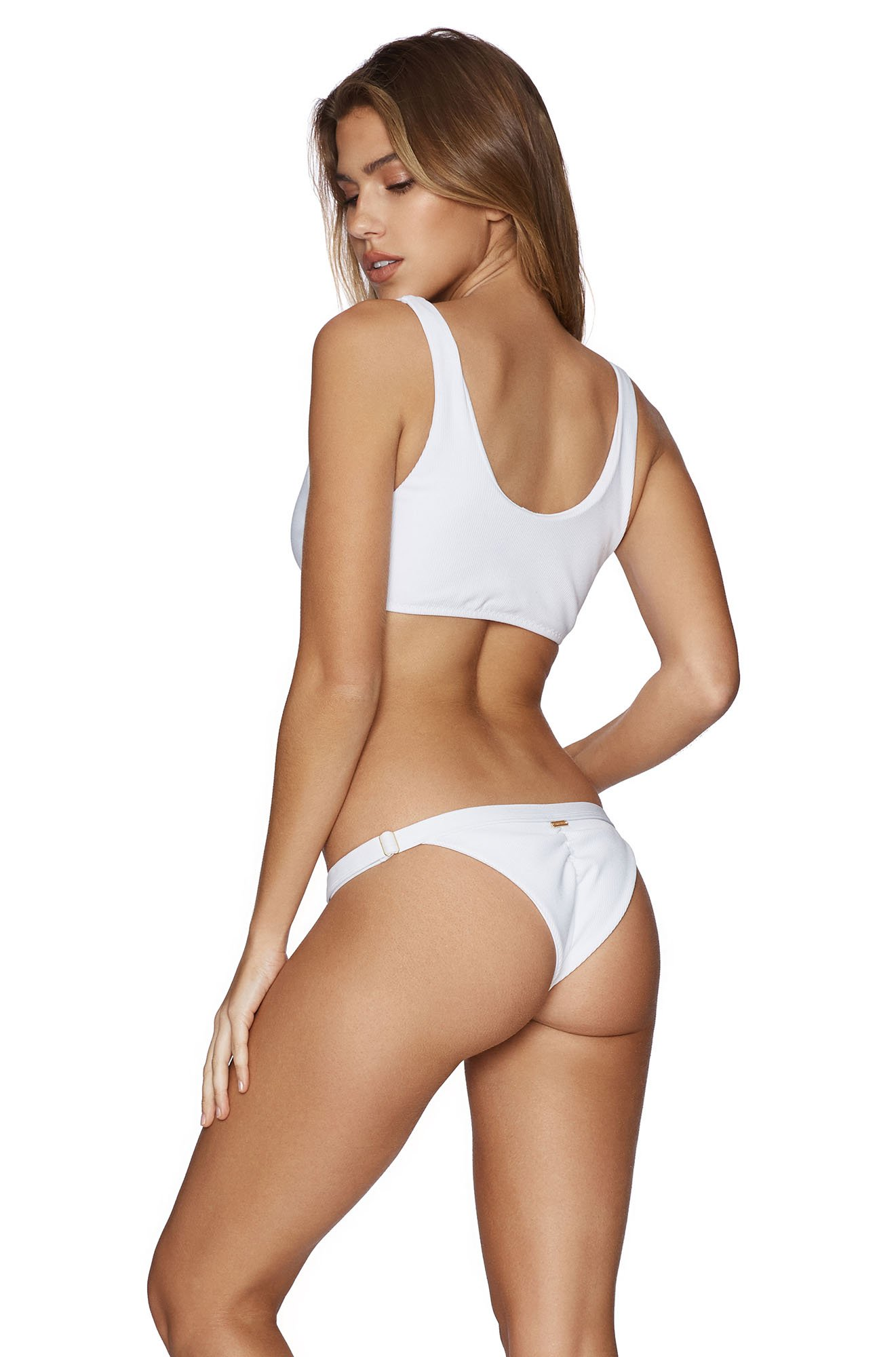 Rib Tide Skimpy Bottom in White