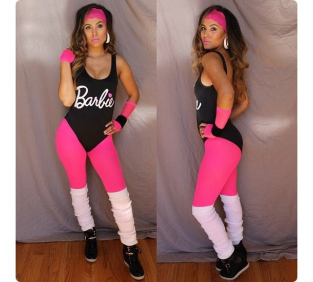 jumpsuit leotard barbie black leg warmers leggings shoes headband 1753e1d0829