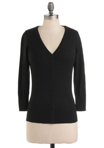 Charter School Cardigan in Black | Mod Retro Vintage Sweaters | ModCloth.com