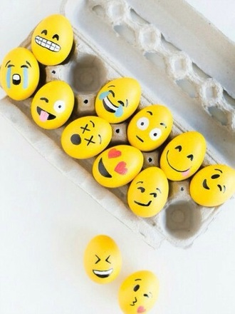 home accessory egs emoj yellow cute yum easter emoji print egg breakfast