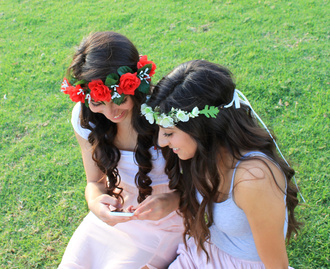 hair accessory flower crown floral crown floral headband flower headband rose crown red flower crown white flower crown pretty cute floral
