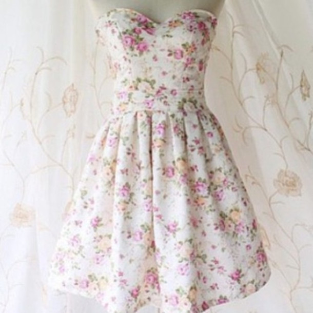 dress flowered colorful cute hippie hipster girly